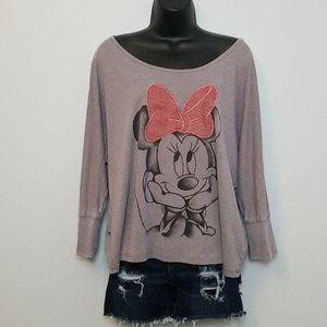 Disneyland Minnie Mouse Cropped Boxy Tshirt Large